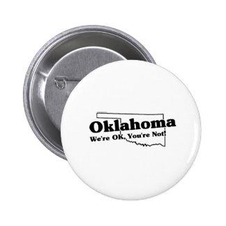 Lema del estado de Oklahoma Pins
