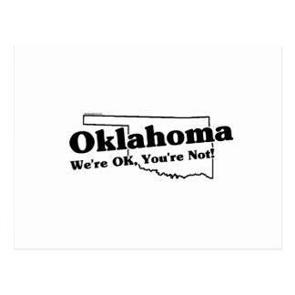 Lema del estado de Oklahoma Postal