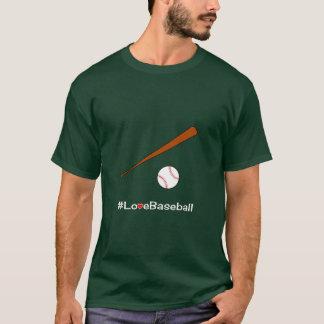 Lema del hashtag del béisbol camiseta