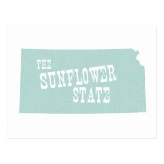 Lema del lema del estado de Kansas Postal