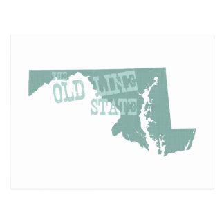 Lema del lema del estado de Maryland Tarjetas Postales