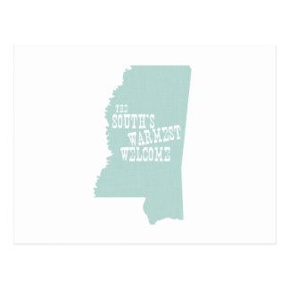 Lema del lema del estado de Mississippi Postales