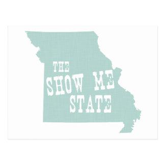 Lema del lema del estado de Missouri Postales
