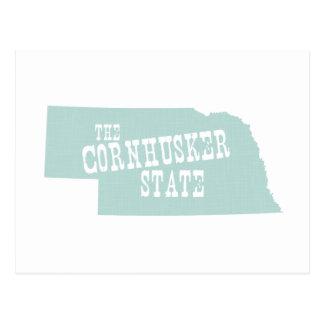 Lema del lema del estado de Nebraska Postales