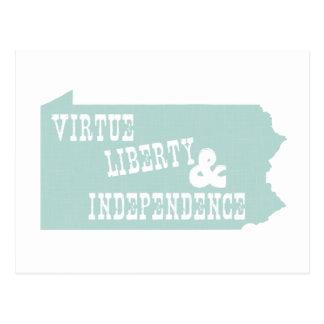 Lema del lema del estado de Pennsylvania Postal