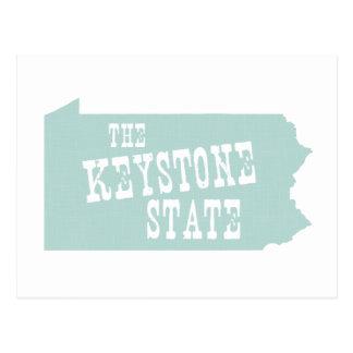Lema del lema del estado de Pennsylvania Tarjetas Postales