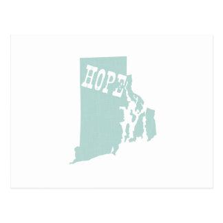 Lema del lema del estado de Rhode Island Postal