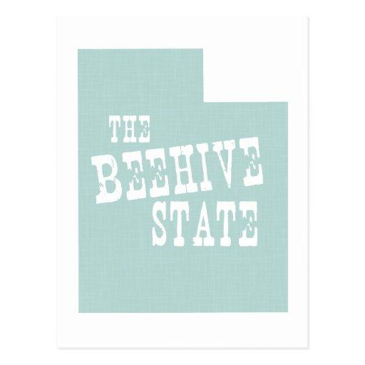 Lema del lema del estado de Utah Postales
