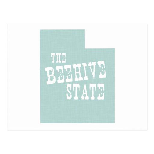Lema del lema del estado de Utah Tarjetas Postales