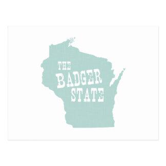Lema del lema del estado de Wisconsin Tarjeta Postal