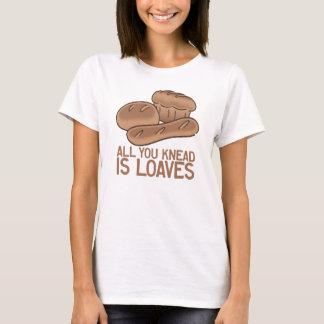 Lema divertido de la panadería camiseta