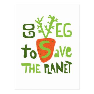 Lema escrito mano del vegano con la postal de la z