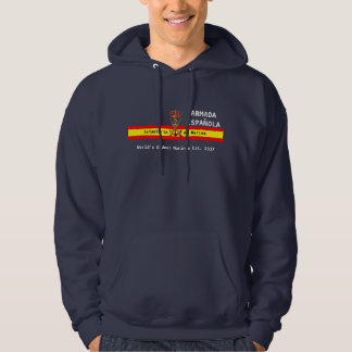 Lema español real de los infantes de marina jersey encapuchado