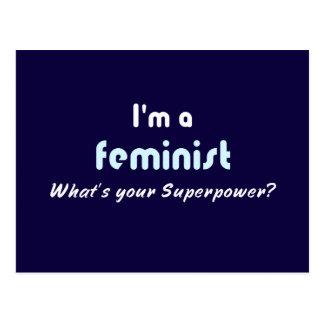 Lema feminista del superpoder postal