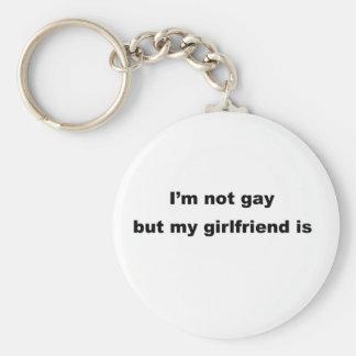 ¡Lema gay divertido Llaveros