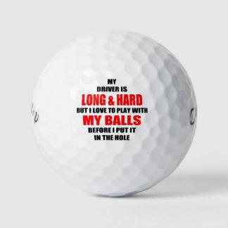 Lema hilarante de la pelota de golf