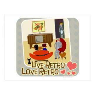 Lema retro del amor retro vivo postal