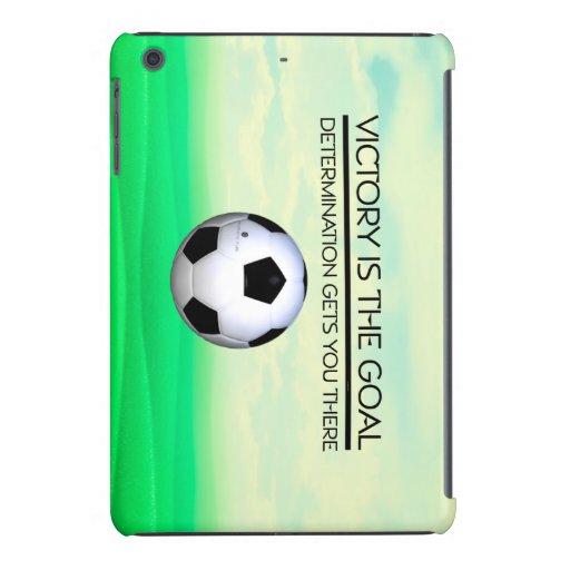 Lema SUPERIOR de la victoria del fútbol Funda De iPad Mini