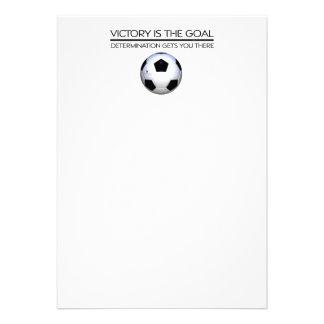 Lema SUPERIOR de la victoria del fútbol Comunicado