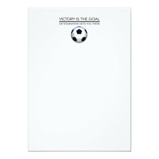 Lema SUPERIOR de la victoria del fútbol Invitación 12,7 X 17,8 Cm