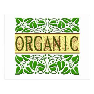 Lema verde orgánico postal