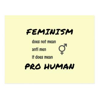 Lema y símbolo del feminismo postal