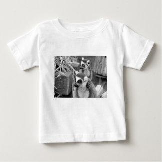 lemur Anillo-atado con el bebé blanco y negro Camiseta De Bebé