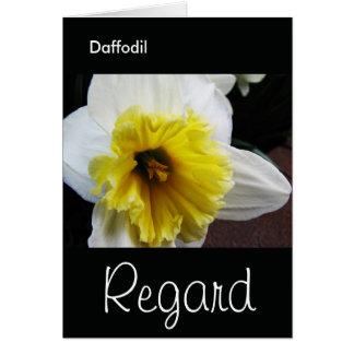 Lengua del respeto del narciso de las flores tarjeta de felicitación