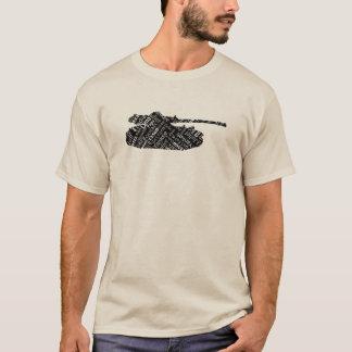 Lengua militar del alfabeto fonético del tanque de camiseta