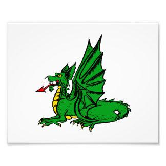 Lengua roja coa alas side.png del dragón impresiones fotograficas