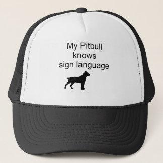 Lenguaje de signos de Pitbull (b) Gorra De Camionero