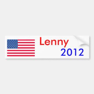 Lenny la langosta 2012 etiqueta de parachoque