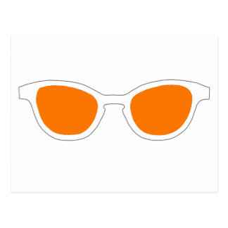 Lente anaranjada del borde blanco de las gafas de postales