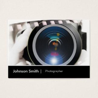 Lente de cámara del cinematógrafo del fotógrafo de tarjeta de negocios