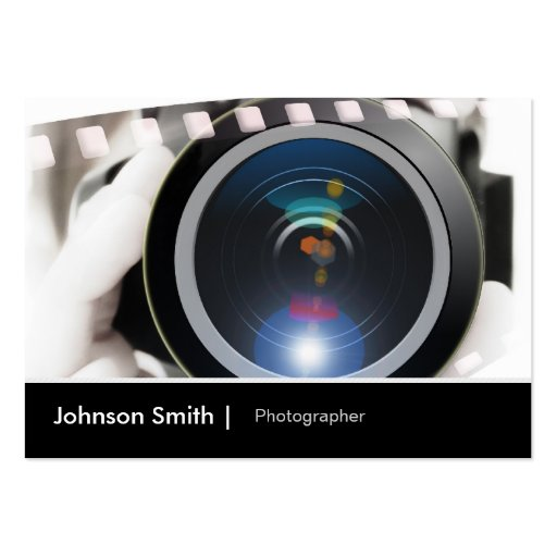 Lente de cámara del cinematógrafo del fotógrafo de tarjeta de visita