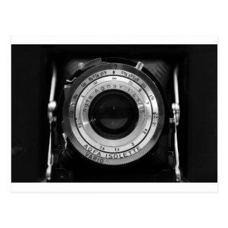 Lente de cámara del vintage postal