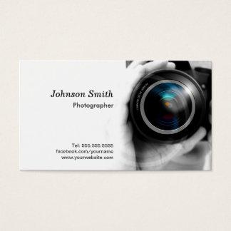 Lente de cámara - muestre su mejor trabajo sobre tarjeta de negocios