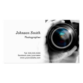Lente de cámara - muestre su mejor trabajo sobre tarjetas de visita