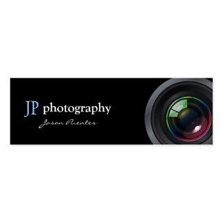 Lente de cámara profesional del fotógrafo plantillas de tarjetas de visita