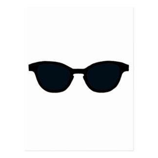 Lente negra del negro del borde de las gafas de postal