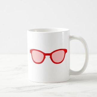 Lente roja del rosa del borde de las gafas de sol taza
