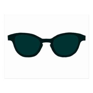 Lente verde de DK del borde negro de las gafas de Tarjeta Postal
