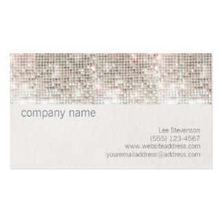 Lentejuela brillante y lino de la plata linda de l plantillas de tarjeta de negocio