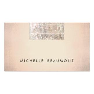 Lentejuela de cobre elegante simple de la belleza tarjetas de visita