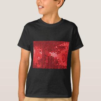 lentejuelas rojas brillantes camiseta