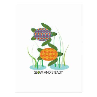 Lento y constante tarjetas postales