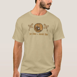 Leo - el león - camiseta del zodiaco de los
