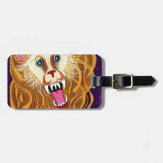 Leo el león de oro etiqueta para maletas