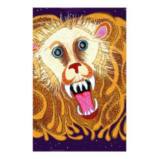 Leo el león de oro papelería personalizada