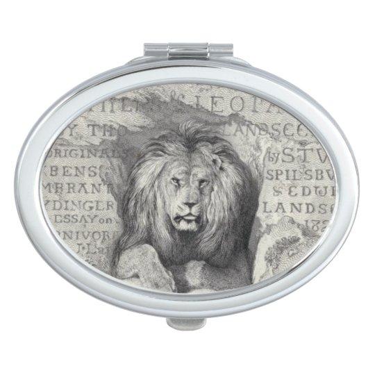 Leo el león - espejo compacto